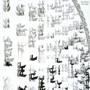 Lac des Cygnes, origami miniature, création Véronique Wardega sur le thème Ombres et lumières