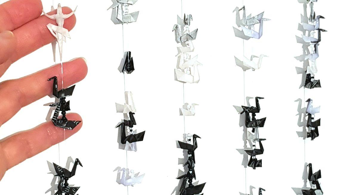 Détail Lac des Cygnes origami
